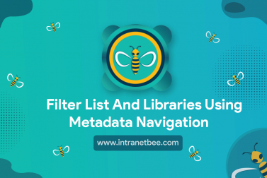 Filter list and libraries using metadata navigation