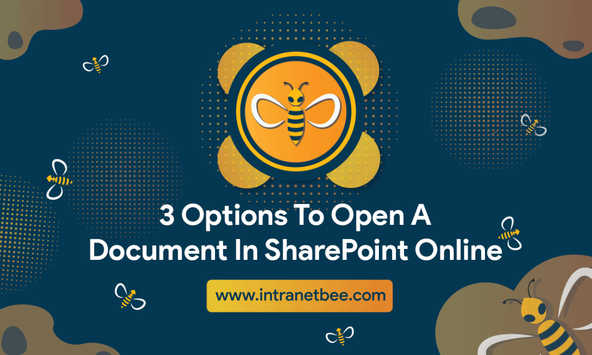 Options to open a document in SharePoint