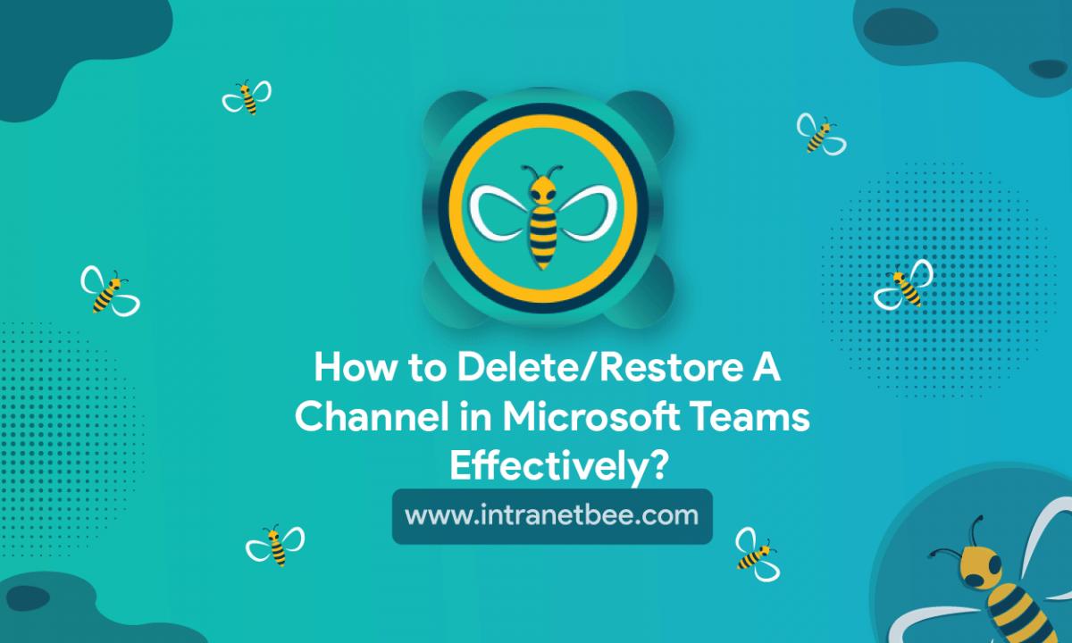 Restore a Channel in Microsoft Teams