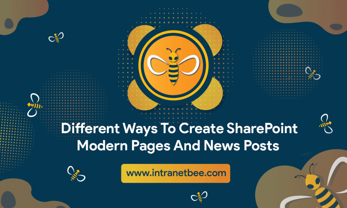 Ways To Create SharePoint Modern Pages