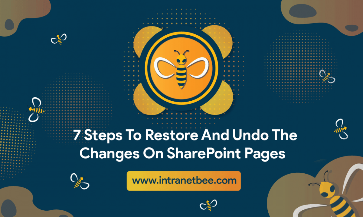 Restore And Undo The Changes On SharePoint Pages