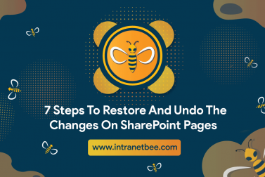 7 Steps To Restore And Undo The Changes On SharePoint Pages