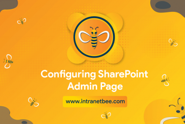 Configuring SharePoint Admin Page