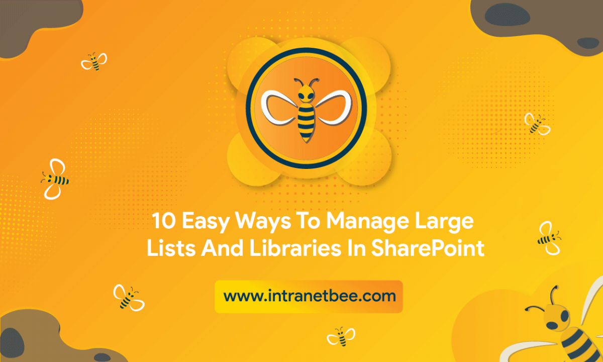 Manage Large Lists and Libraries in SharePoint
